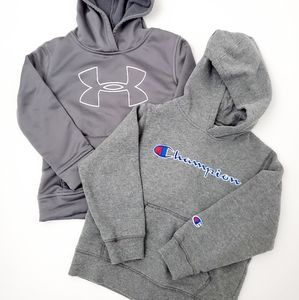 Boys' Champion and Under Armour sweatshirts size 6